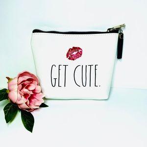 """🍒3/$30 New Rae Dunn """"Get Cute"""" Pouch"""